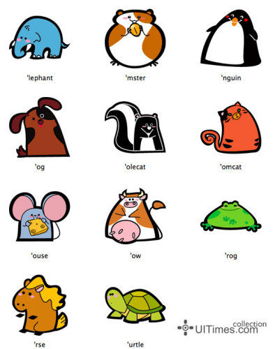 可爱的动物图标欣赏