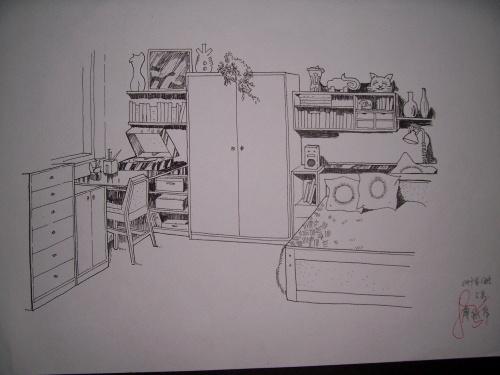 第一张室内设计手绘图