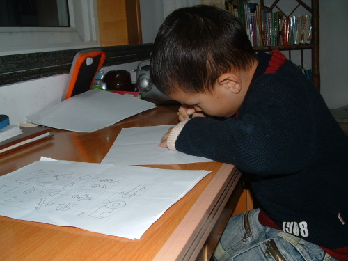 爸爸妈妈教我画简笔画
