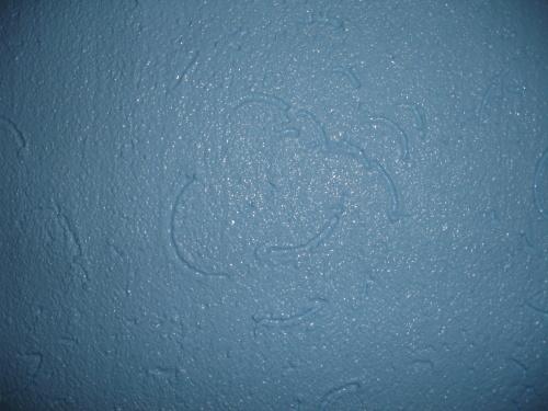 蓝色花纹地面瓷砖