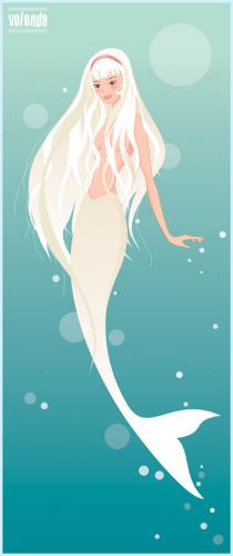 白色人鱼图片