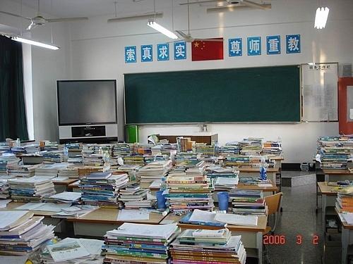 我的高中教室图片