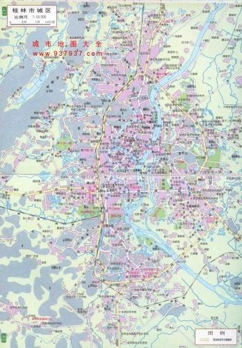 桂林地图和公交