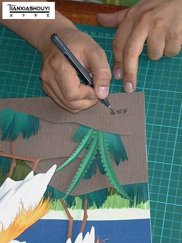 [转]台湾王桢文纸雕的制作过程