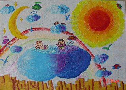 科幻画简单又好看的 小学生6年级分享展示图片