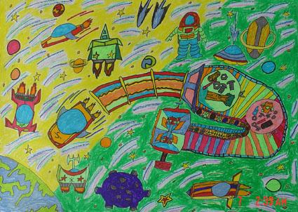林晓海  《未来的太空能源》 四年级图片