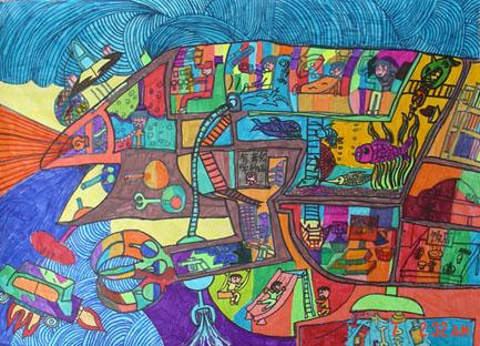 孩子们新创作的科幻画(二)图片