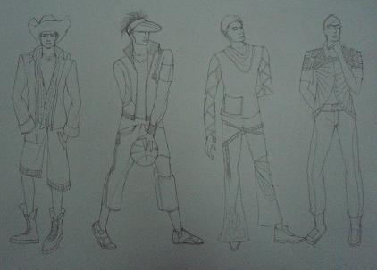 我的时装画作业~-黑白灰-搜狐博客