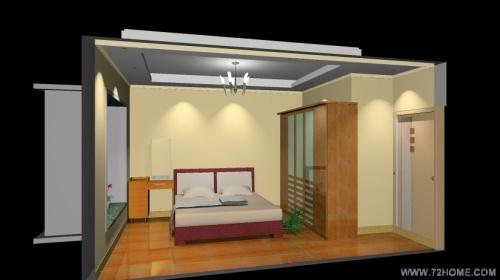 """用""""我家我设计""""简单做了主卧室效果图,感受一下吧图片"""