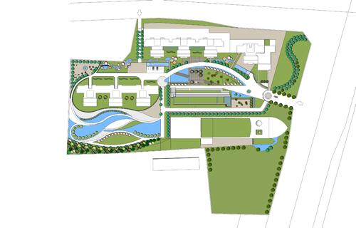 某居住小区中心绿地景观设计图图片