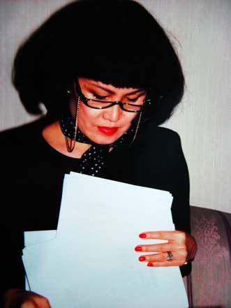我的摄影作品 ——人物系列《靳羽西女士肖像》图片