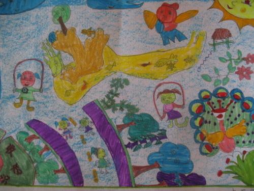 我心目中的爱生学校 图画 作文图片