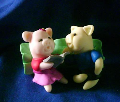 超级可爱滴两只小猪flash`~`