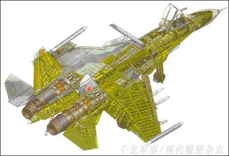 苏33舰载机结构图