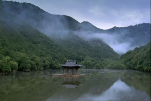 水上风景图片意境