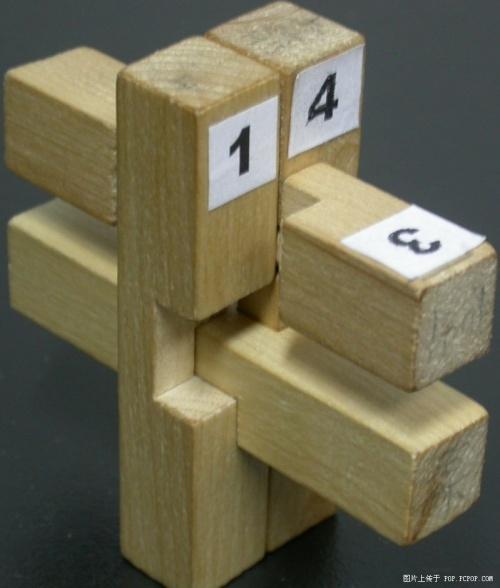 孔明锁大三通图解,孔明锁9根解法