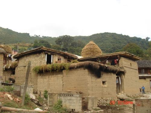 彝族房子简笔画