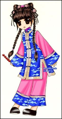古代公主丹青图片卡通古代美女q版古代人物公主丹青  竖