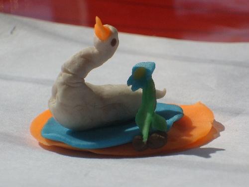 彩泥天鹅步骤图片