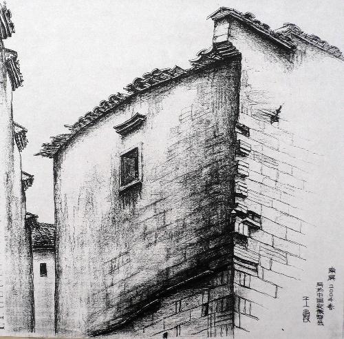 安徽黟县乡土建筑3   铅笔速写   20cm*20cm