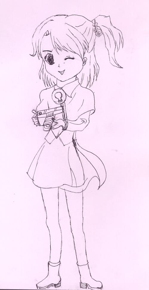 素描美少女卡通人物_素描美少女图片_漫画素描技法美少女_社会新闻