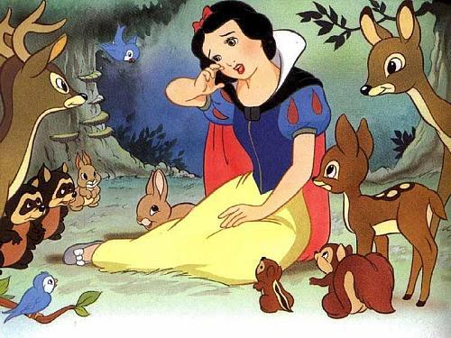 """""""仆人把白雪公主带走了"""