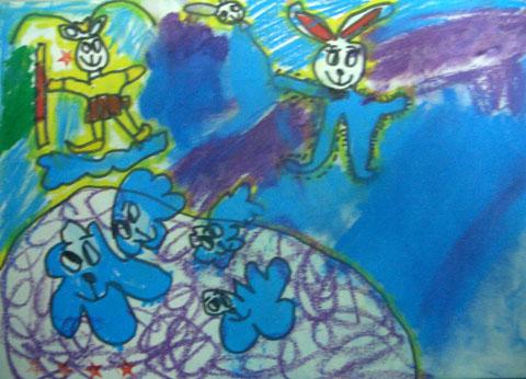 美术画画可爱小兔