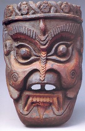 雕刻木板非洲面具画