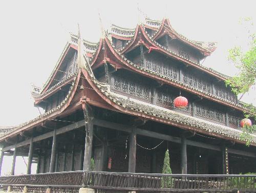 古建筑屋顶俯视ps素材