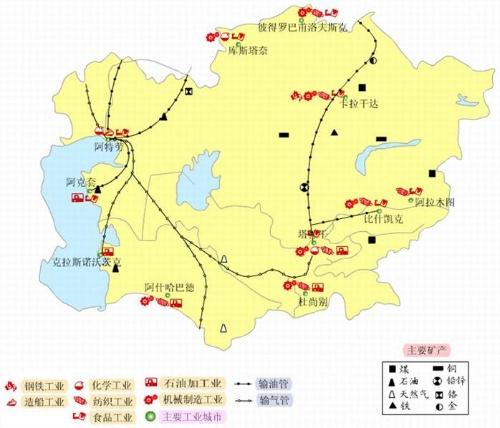 地理——中亚图片